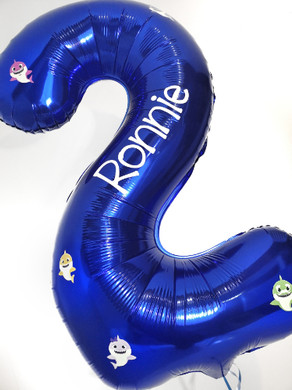 baby shark personalised number balloon d