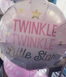 18 inch girl foil balloon twinkle little