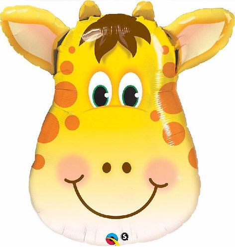 "Giraffe head Jungle Animal Supershape Helium Foil Balloon 32"""
