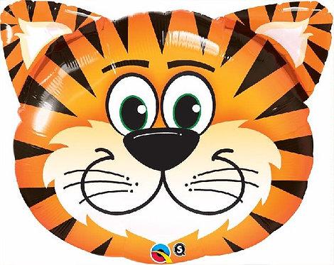 """Tiger head Jungle Animal Supershape Helium Foil Balloon 30"""""""