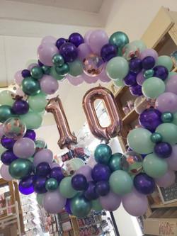 freestanding organic balloon hoop number