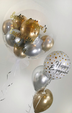 engagement personalised bubble balloons