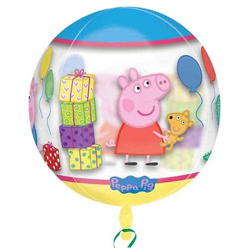 Peppa Pig Balloon Orbz 4 Sided Helium Semi-clear - Peppa & George