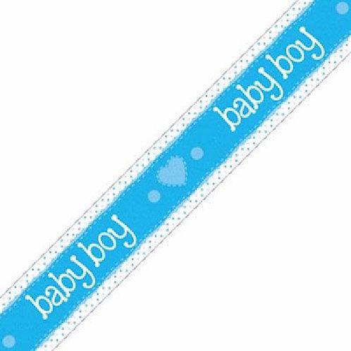 New born baby boy 9ft banner.