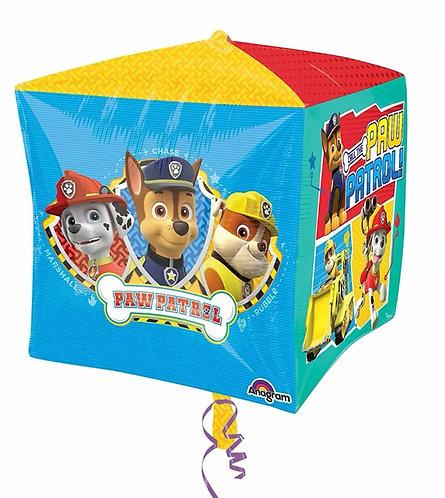 Paw Patrol Balloon - Chase, Marshall, Rubble 4 sided Cubez Balloon