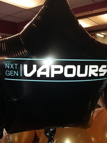 logo balloons vape shop opening dukiniel