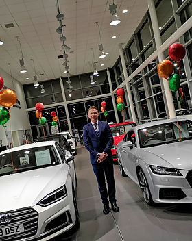 corporate car showroom balloons manchest