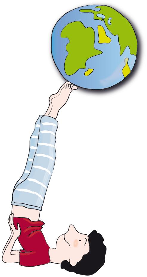 Junge mit Erde