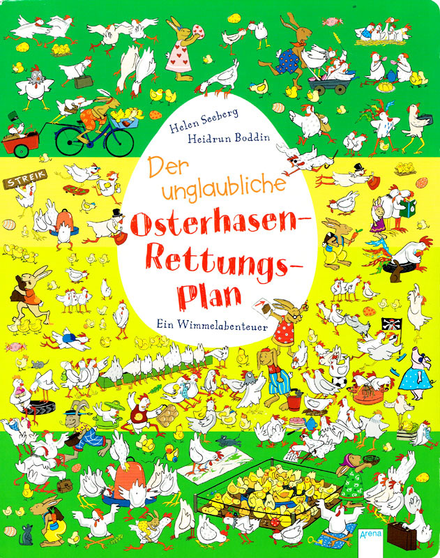 Der unglaubliche Osterhasenrettungsplan, Wimmelbuch