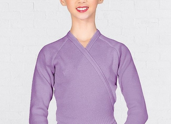 Junior Lavender Cross-Over Cardigan