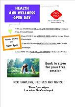 HEALTH & WELLNESS OPEN DAY