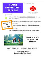 HEALTH & WELLNESS OPEN DAY