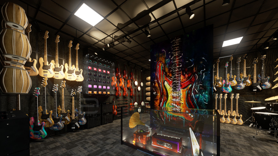 PROPOSED MUSICAL SHOWROOM DESIGN