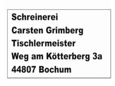 Schreinerei Tischlermeister Grimberg