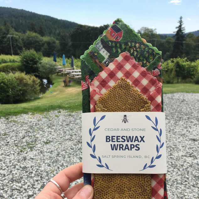 Bee's Wax Wraps from Cedar and Stone