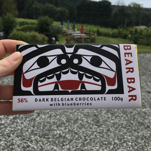 Dark Belgian Chocolate with Blueberries from Bear Bar - lots of other flavours available!