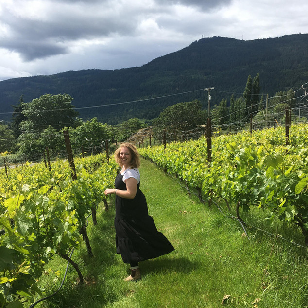 Maggie in the Vines!
