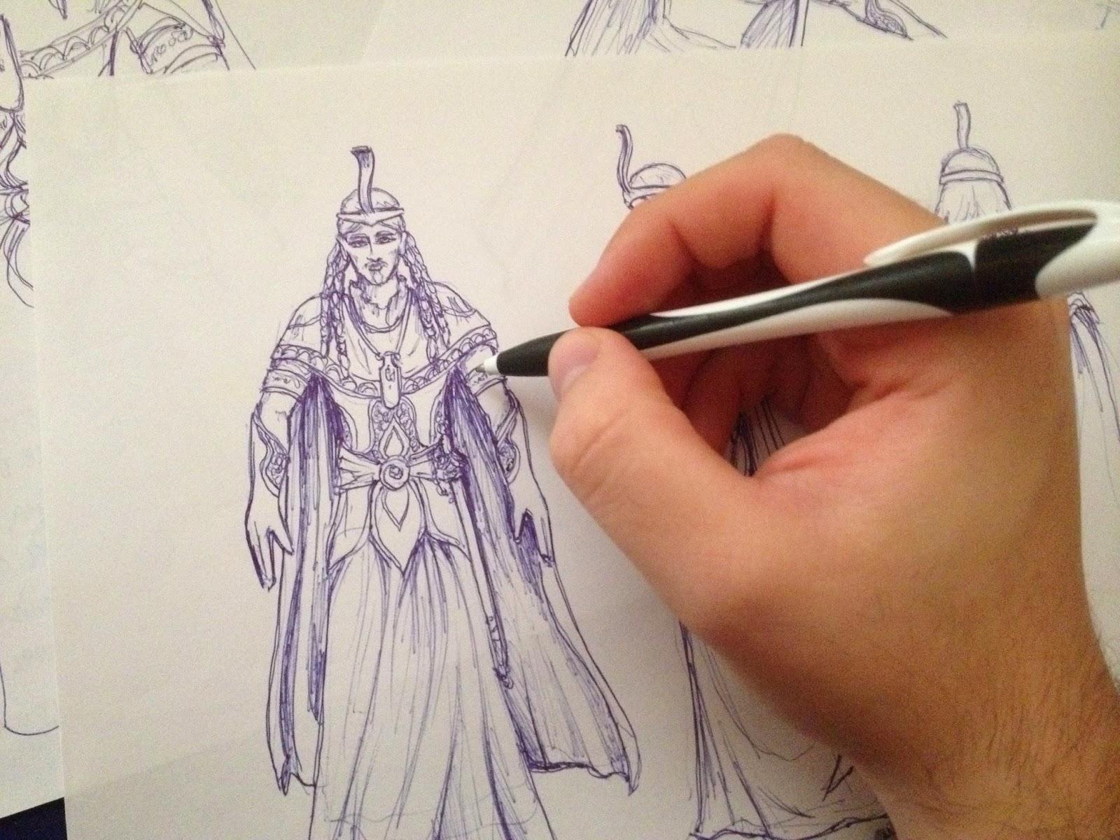 Hand-drawn sketch