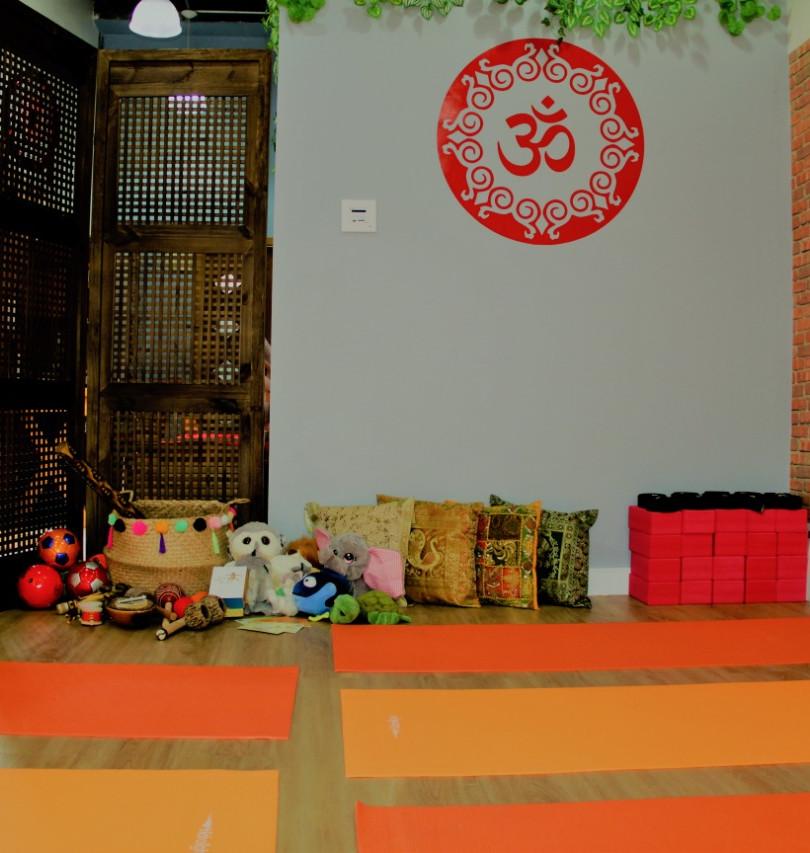 Materiais da sala de yoga