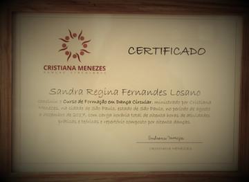 Certificado Curso de Formação em Dança Circular