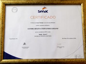 Certificado Curso Reiki - Nível 3