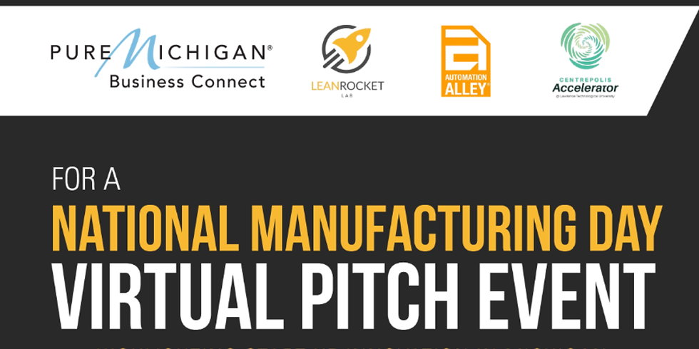 National MFG Day Virtual Pitch Event