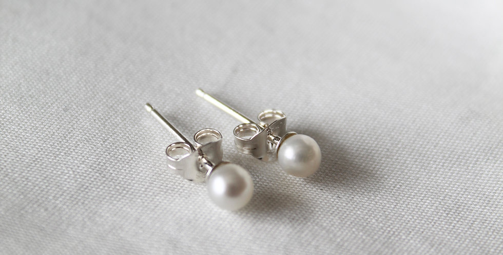 The Pearl Stud || Sterling Silver