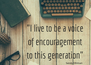 BEING A VOICE OF ENCOURAGEMENT...