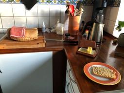 ホームステイのキッチン
