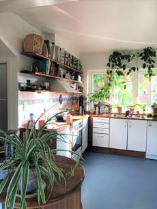 ホームステイ先のキッチン