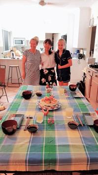 ひな祭りで作った日本食ディナー