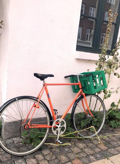 街中の自転車