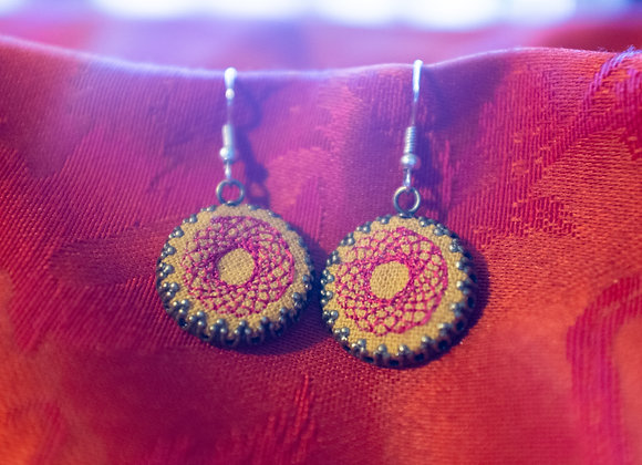 Spirograph Earrings