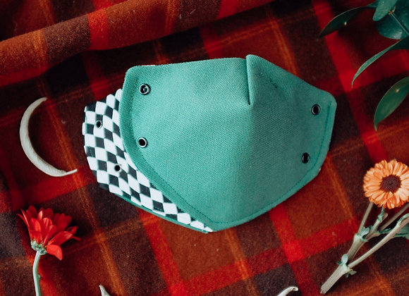Green checkers mask 💚