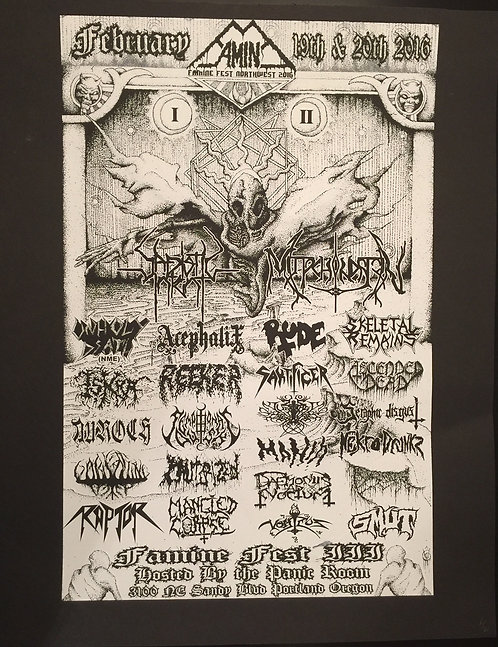 Famine Fest 2016 Poster- Band
