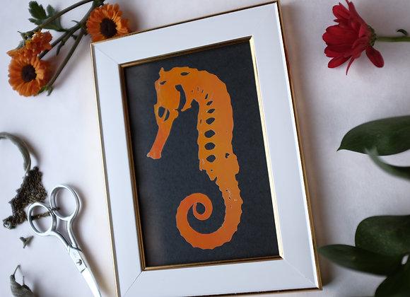 Seahorse Pale Pink & Orange