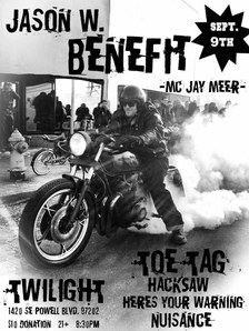 A benefit for Jason W.