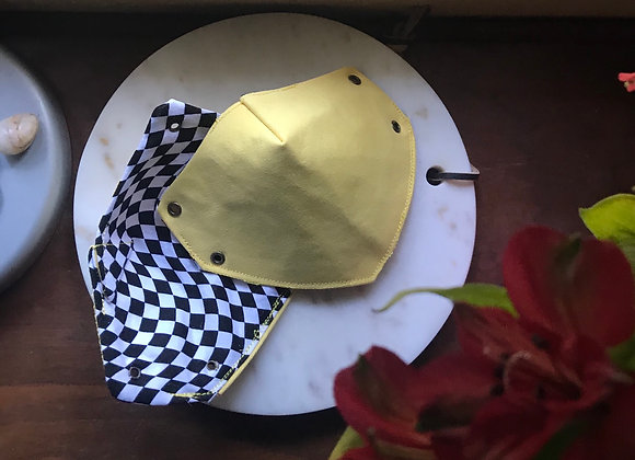 Black & Yellow Checker Mask