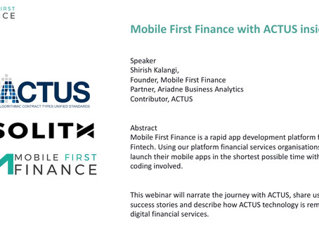 Mobile First Finance with ACTUS Inside