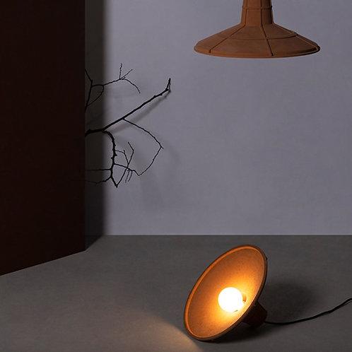 Fan Shape Earth Tone Cement Ceiling Lamp