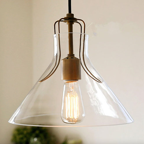 Japanese Wire Glass Ceiling Lamp