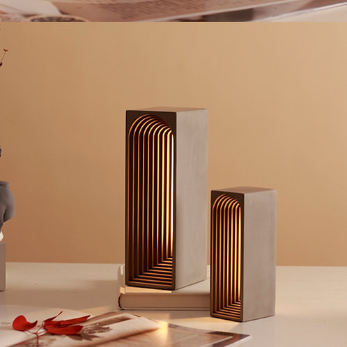 Arch Cement Table Lamp