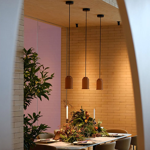 Cylinder Earth Tone Cement Pendant Light