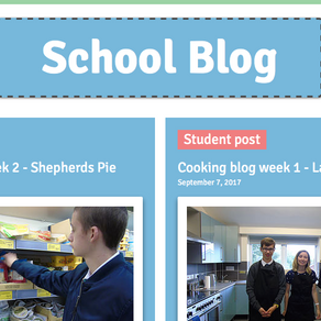 School blog posts have launched!