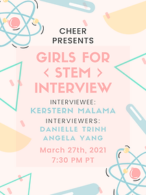 Interview - Girls For STEM USA - Poster