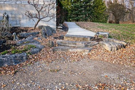Rocky garden and Walkway