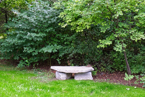 A creative bench for a seating area