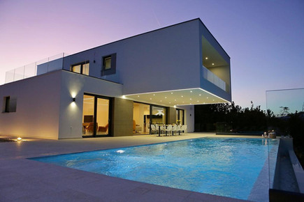 Heated and lighted swimming pool