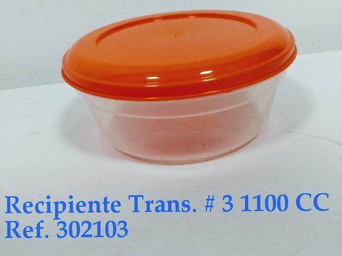 Recipiente Transparente N° 3 - 1.100 cc