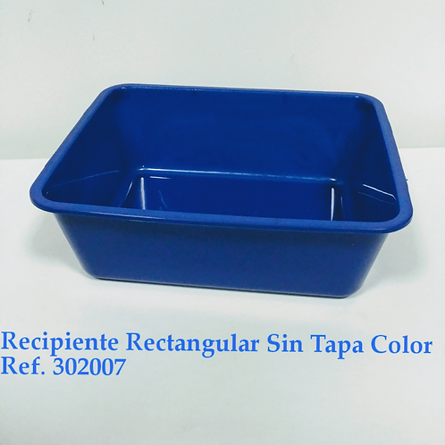 Recipiente  Rectangular Color Sin Tapa